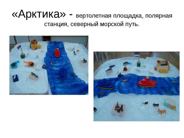 «Арктика» - вертолетная площадка, полярная станция, северный морской путь.