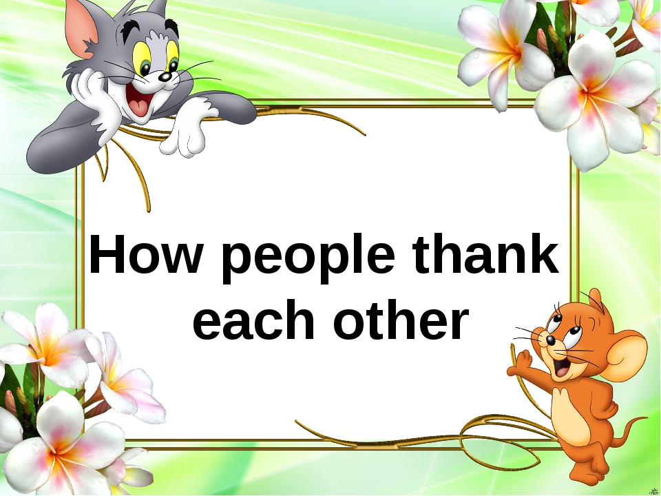 How people thank each other
