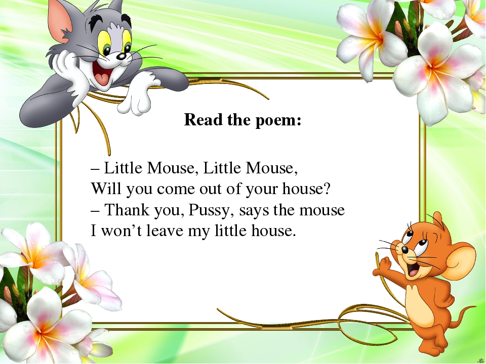 – Little Mouse, Little Mouse, Will you come out of your house? – Thank you, P...