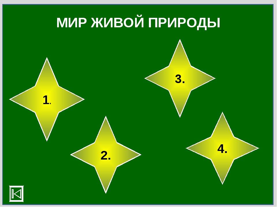 МИР ЖИВОЙ ПРИРОДЫ 1. 2. 3. 4.
