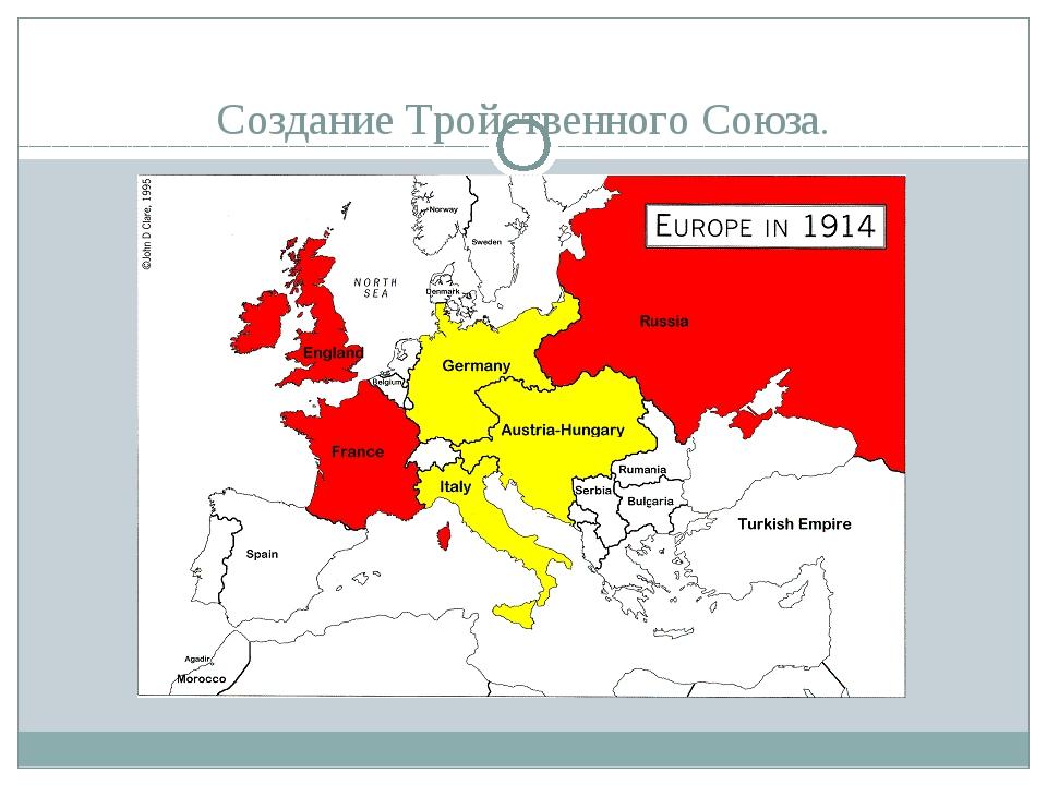 Создание Тройственного Союза.