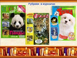 Рубрики в журналах