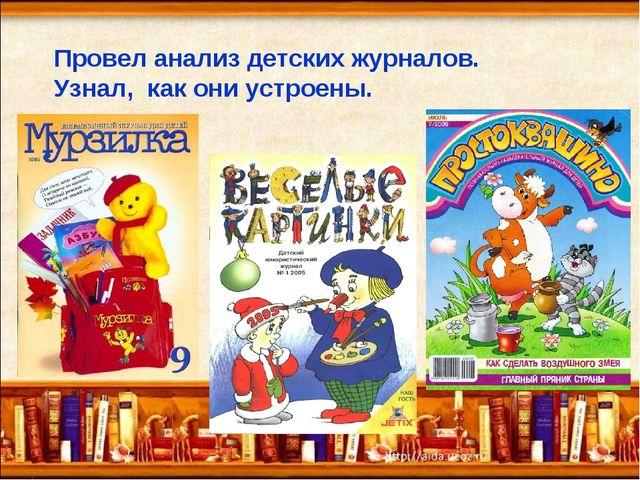 Провел анализ детских журналов. Узнал, как они устроены.