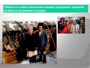 Одним из самых многочисленных коренных народов Кузбасса являются шорцы .