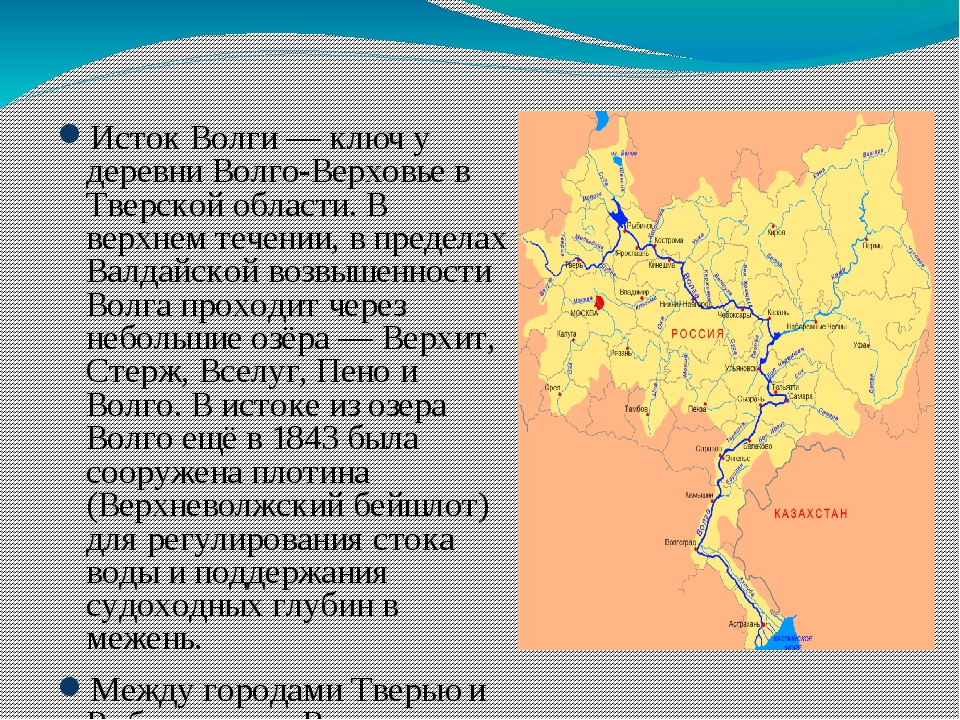 Исток Волги— ключ у деревни Волго-Верховье в Тверской области. В верхнем те...