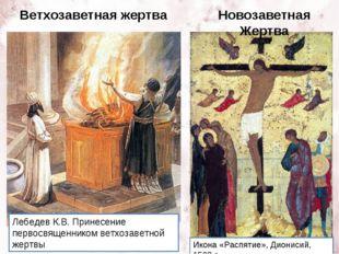 Ветхозаветная жертва Новозаветная Жертва Икона «Распятие», Дионисий, 1502 г.