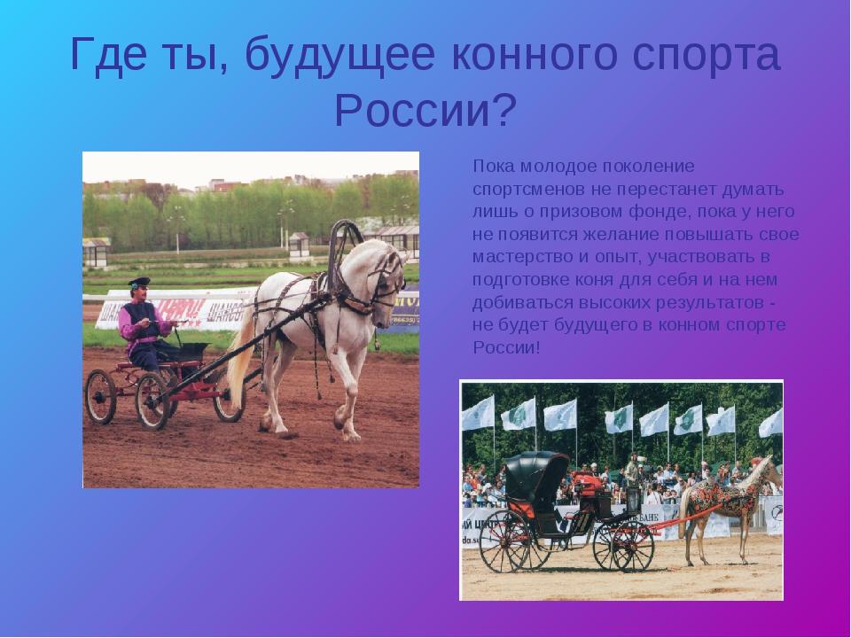 Где ты, будущее конного спорта России? Пока молодое поколение спортсменов не...