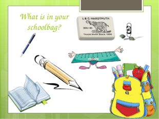 What is in your schoolbag?