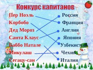 Пер Ноэль Россия Корбобо Франция Дед Мороз Англия Санта Клаус Япония Баббо На