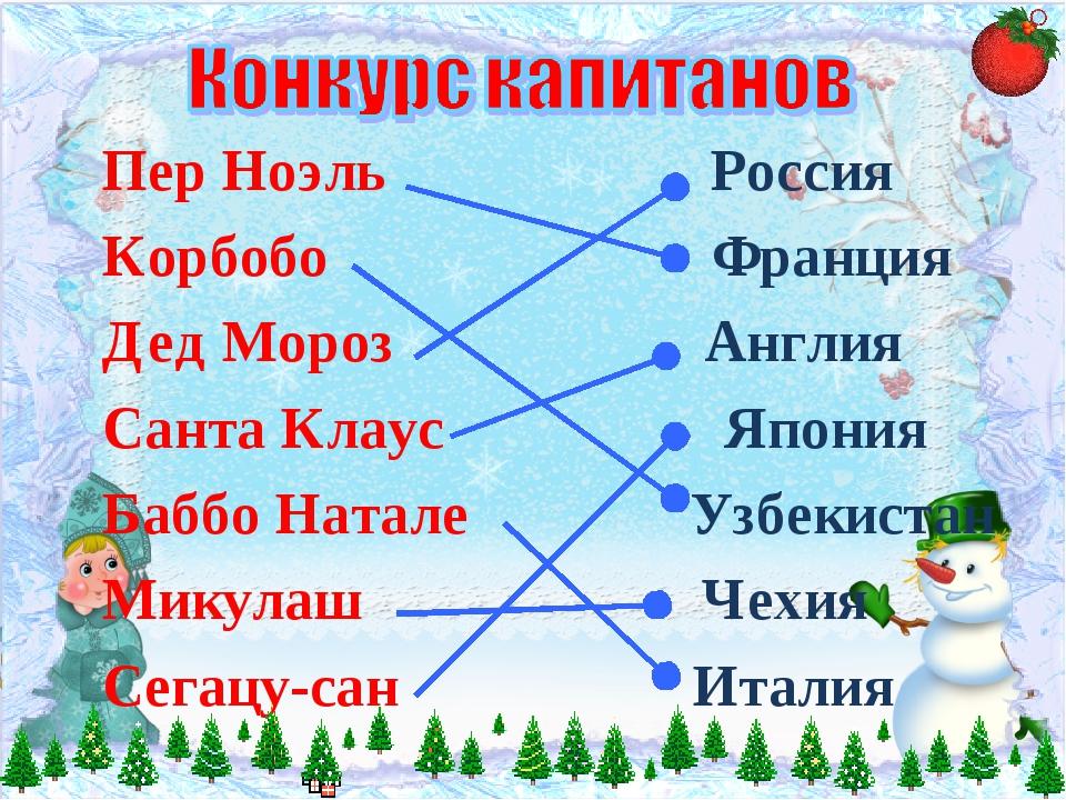 Пер Ноэль Россия Корбобо Франция Дед Мороз Англия Санта Клаус Япония Баббо На...