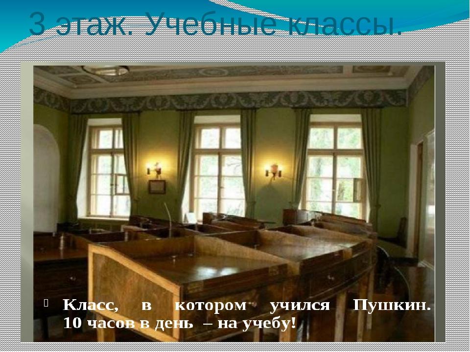 3 этаж. Учебные классы.