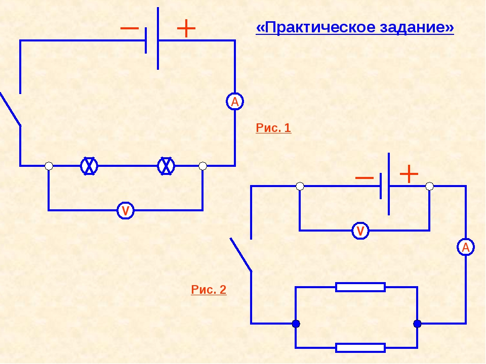 А V А V «Практическое задание» Рис. 2 Рис. 1