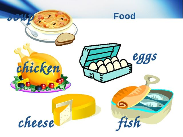 Food fish eggs cheese soup chicken