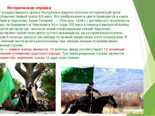 Историческая справка В основу Государственного флага Республики Адыгея пол