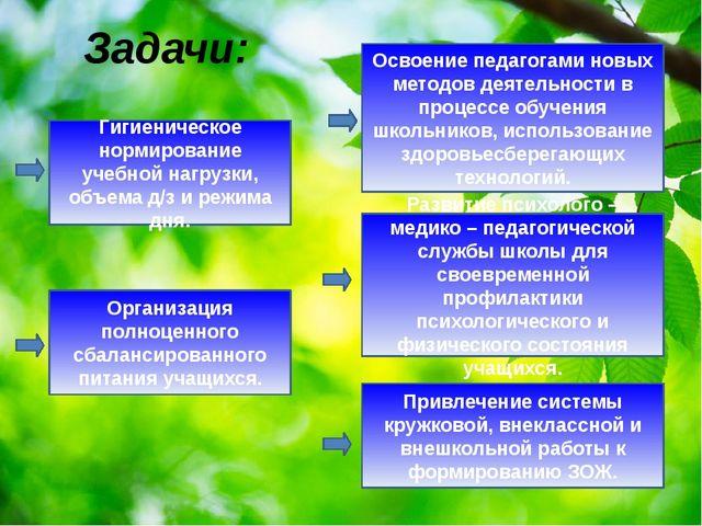 Задачи: Гигиеническое нормирование учебной нагрузки, объема д/з и режима дня....