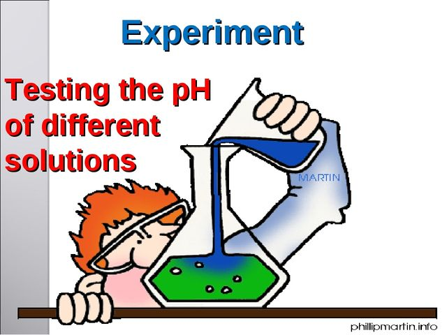 Testing the pH of different solutions Experiment