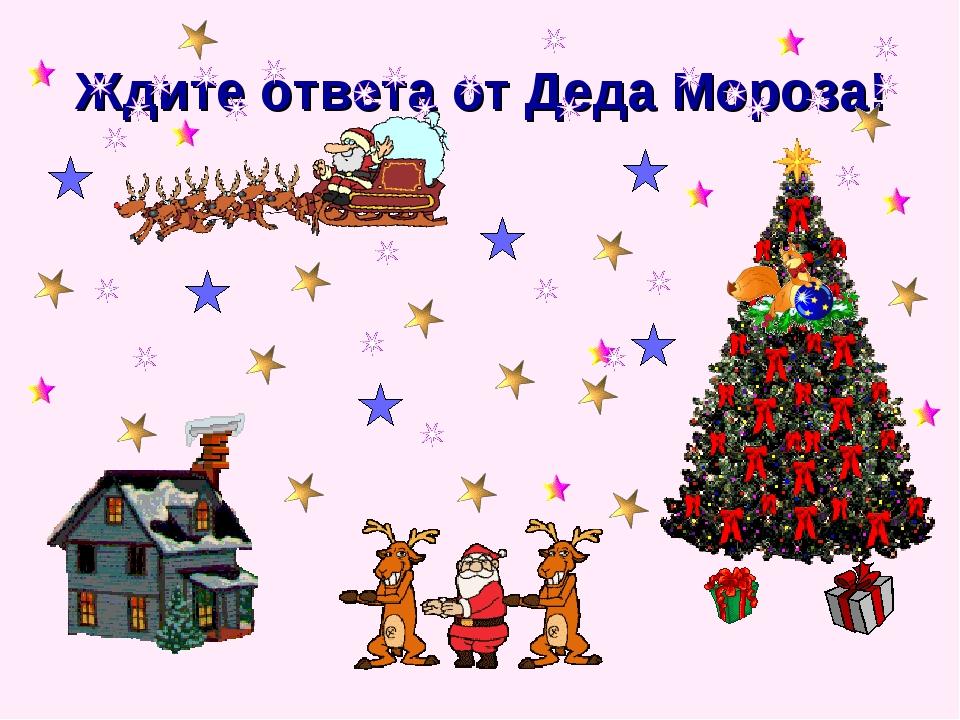 Ждите ответа от Деда Мороза!