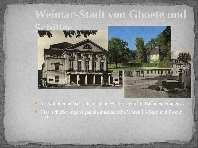 Garten von Ghoete-haus Schloss Witum, Haupteingang Weimar