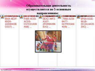 Образовательная деятельность осуществляется по 5 основным направлениям: http: