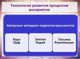 Технология развития процессов восприятия