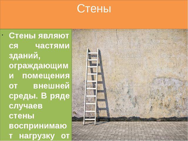 Стены Стеныявляются частями зданий, ограждающими помещения от внешней среды....