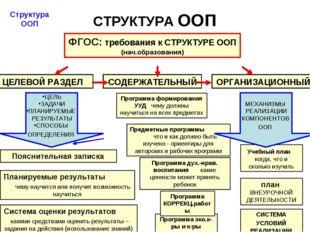 СТРУКТУРА ООП Учебный план когда, что и сколько изучать Система оценки резуль