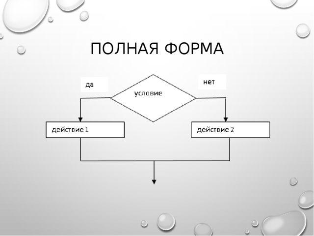 ПОЛНАЯ ФОРМА