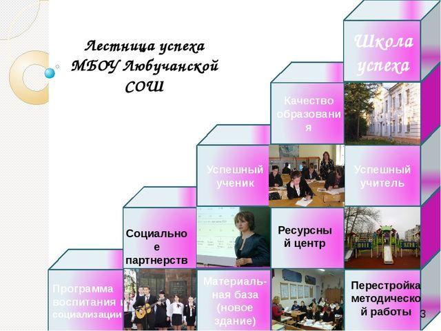 Лестница успеха МБОУ Любучанской СОШ Программа воспитания и социализации Мате...