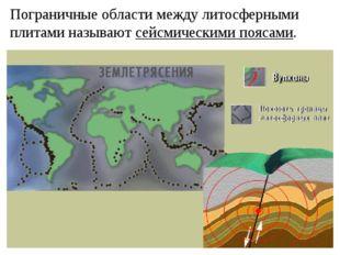 Пограничные области между литосферными плитами называют сейсмическими поясами.