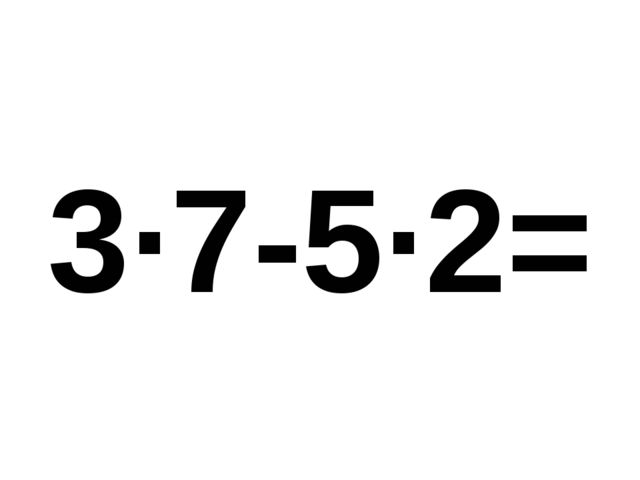 3·7-5·2=