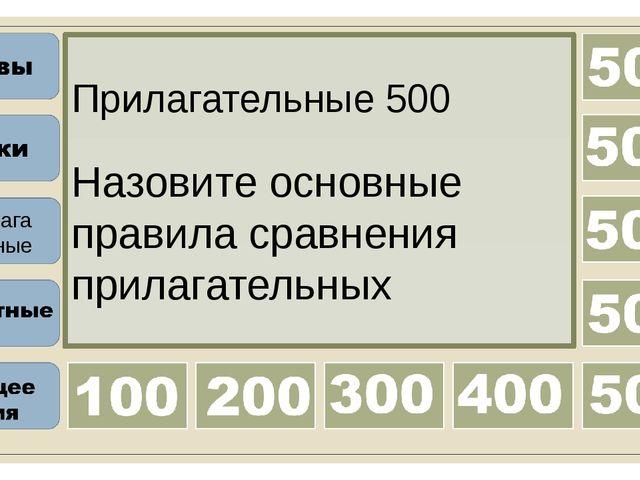 Прилагательные 400 Назовите исключения степени сравнения прилагательных Прила...