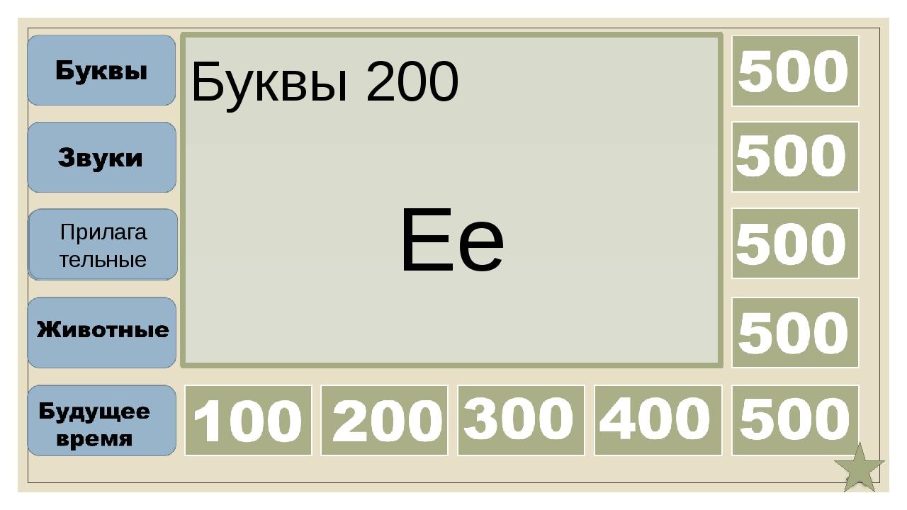 Буквы 300 Gg Прилага тельные