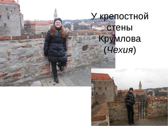 У крепостной стены Крумлова (Чехия)