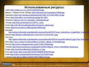 Использованные ресурсы: Зайка http://13day.ucoz.ru/_ph/5/2/443202816.jpg Мишк