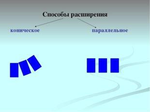 Способы расширения коническое параллельное