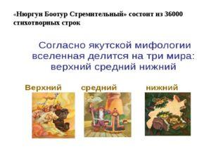 «Нюргун Боотур Стремительный» состоит из 36000 стихотворных строк