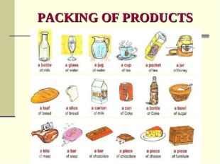 PACKING OF PRODUCTS