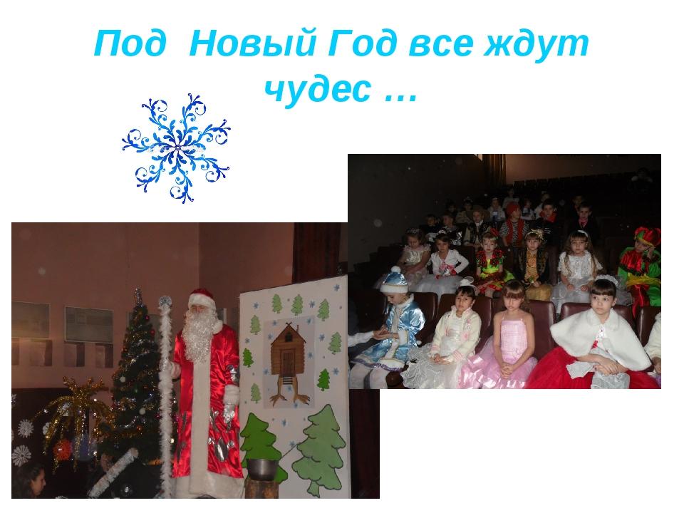 Под Новый Год все ждут чудес …