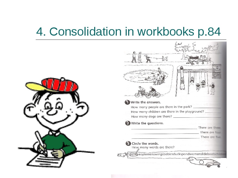 4. Consolidation in workbooks p.84