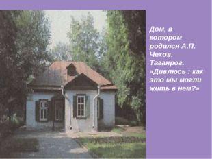 Дом, в котором родился А.П. Чехов. Таганрог. «Дивлюсь : как это мы могли жить