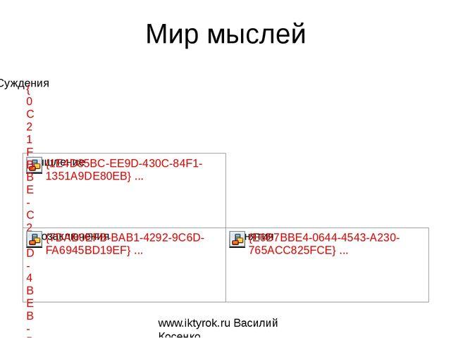 Мир мыслей www.iktyrok.ru Василий Косенко