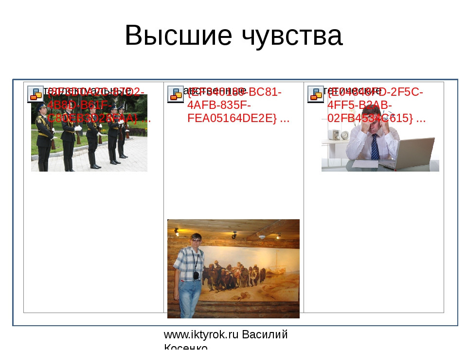 Высшие чувства www.iktyrok.ru Василий Косенко