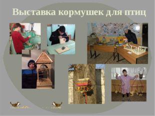 Выставка кормушек для птиц