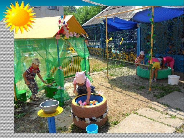 Идеи для оформления участка детского сада летом своими руками