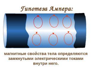 Гипотеза Ампера: магнитные свойства тела определяются замкнутыми электрически