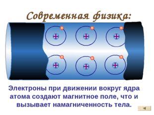 Современная физика: Электроны при движении вокруг ядра атома создают магнитно
