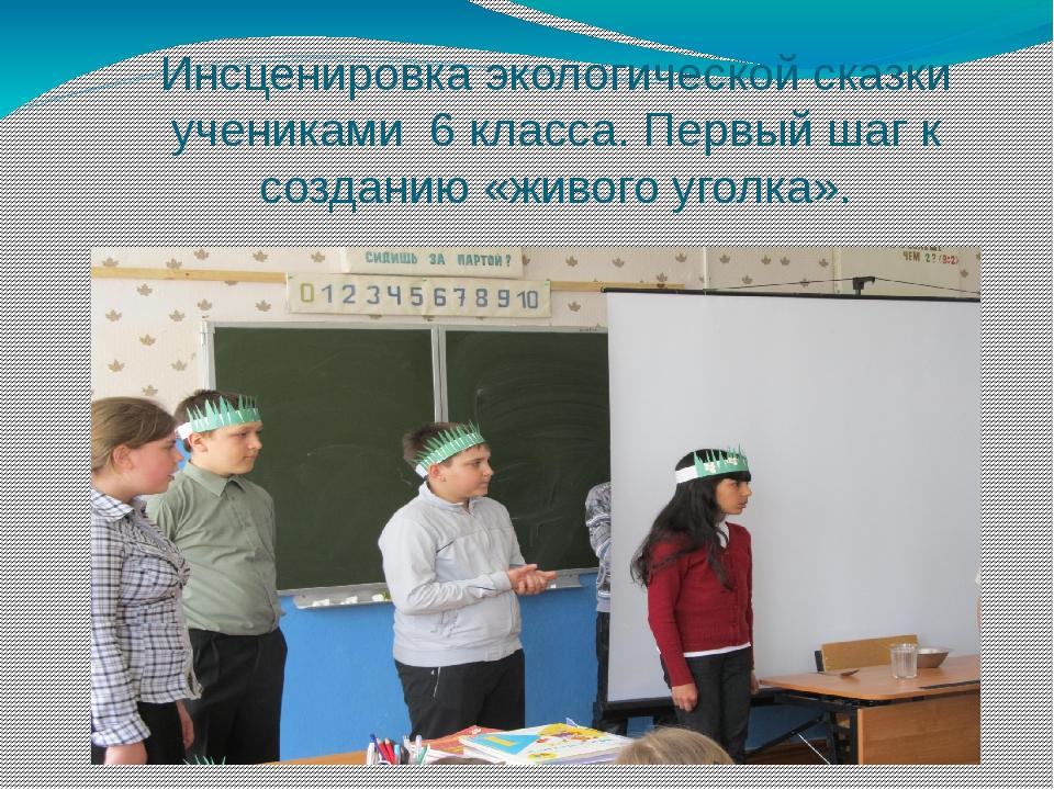 Инсценировка экологической сказки учениками 6 класса. Первый шаг к созданию «...
