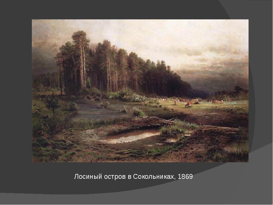 Лосиный остров в Сокольниках, 1869