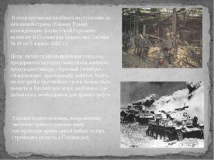 В план крупномасштабного наступления на юге нашей страны (Кавказ, Крым) кома