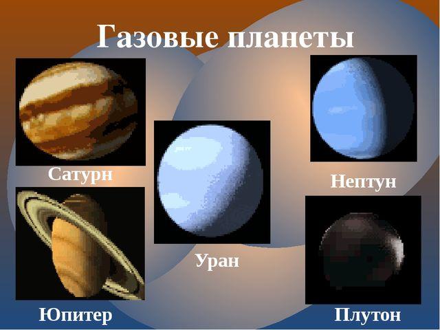Газовые планеты Сатурн Юпитер Уран Нептун Плутон